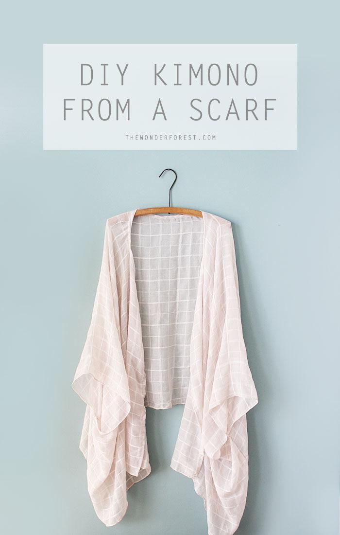 Turn a scarf into this beautiful kimono!
