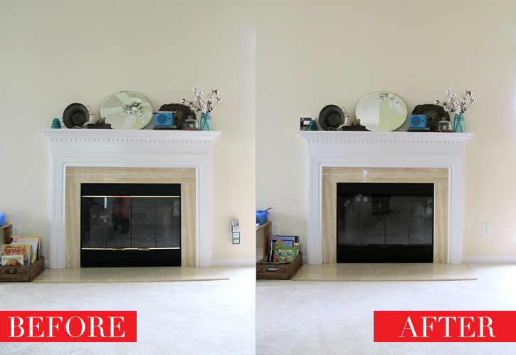 Say goodbye to that brass on your fireplace!