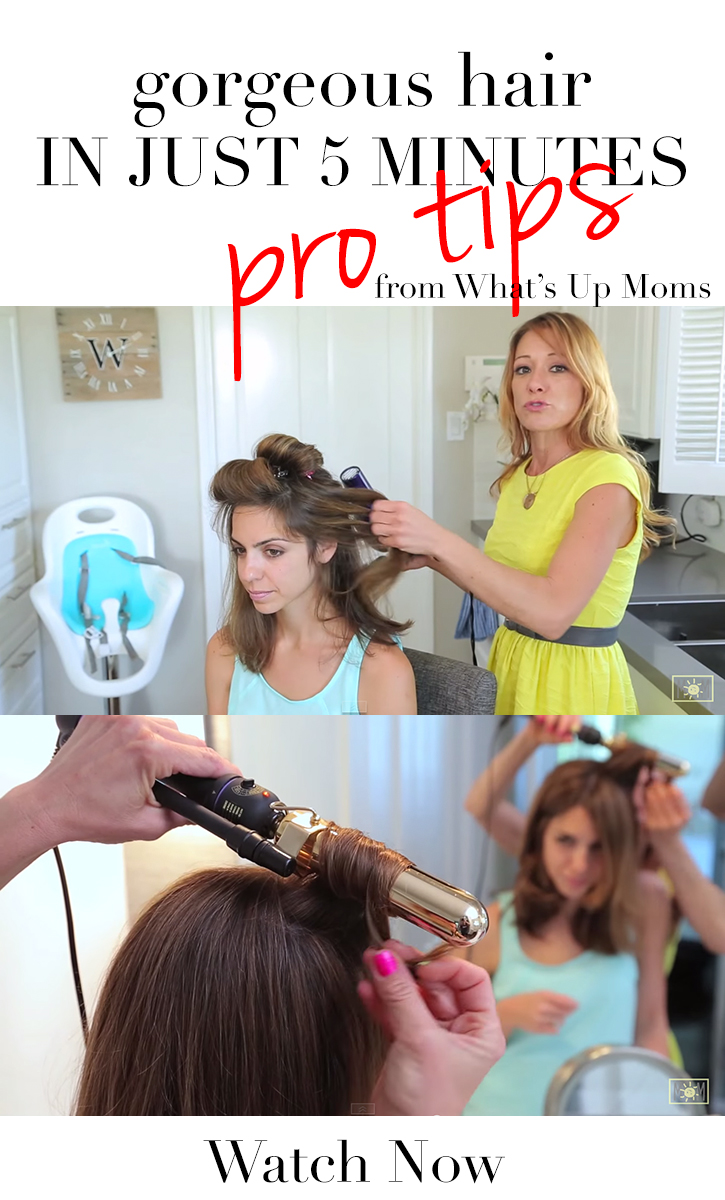 LOVING this!! Great tips for styling your hair in 5 minutes