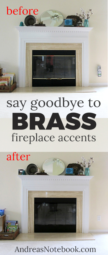 Say goodbye to brass fireplace accents!