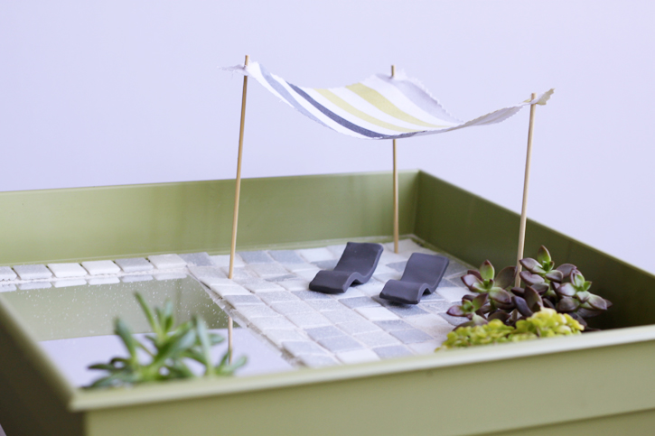 up close of fairy garden