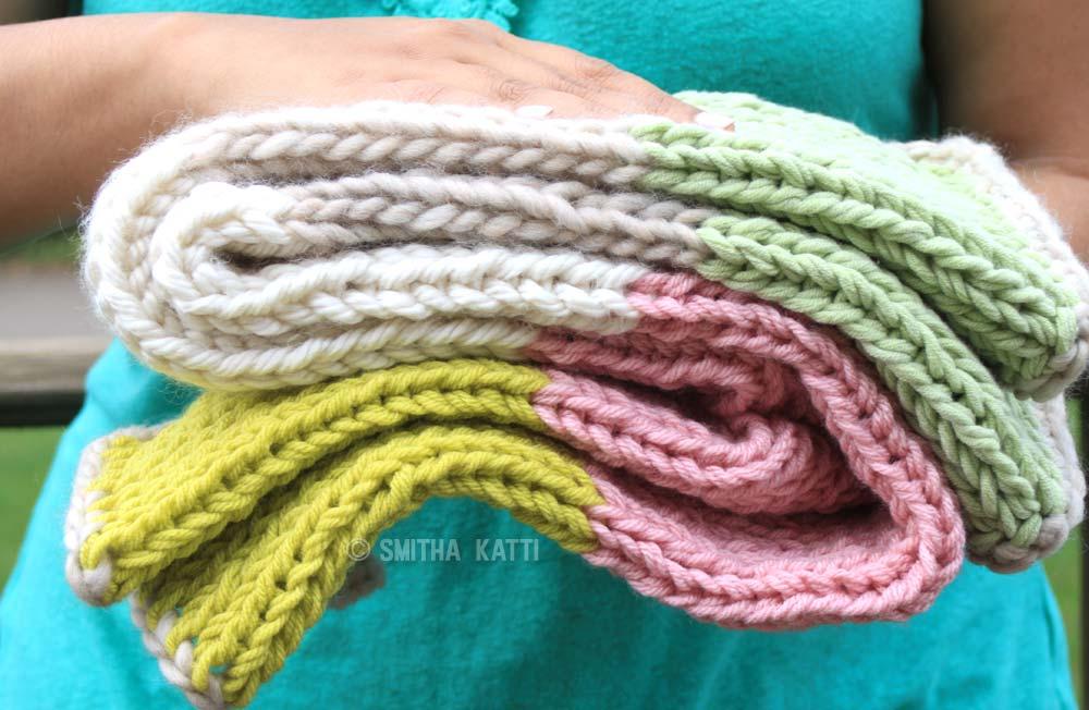 Quick Knit Baby Blanket by Smitha Katti