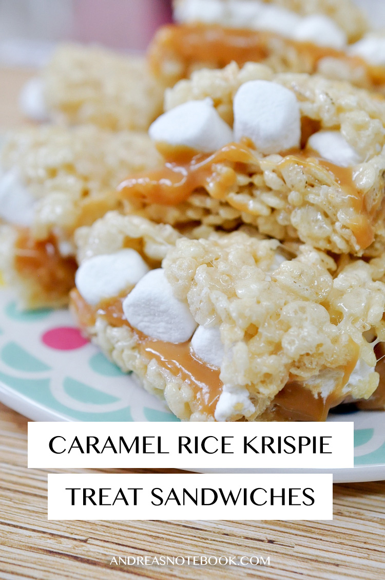 CARAMEL Rice Krispie Treat Sandwiches! YUM-O