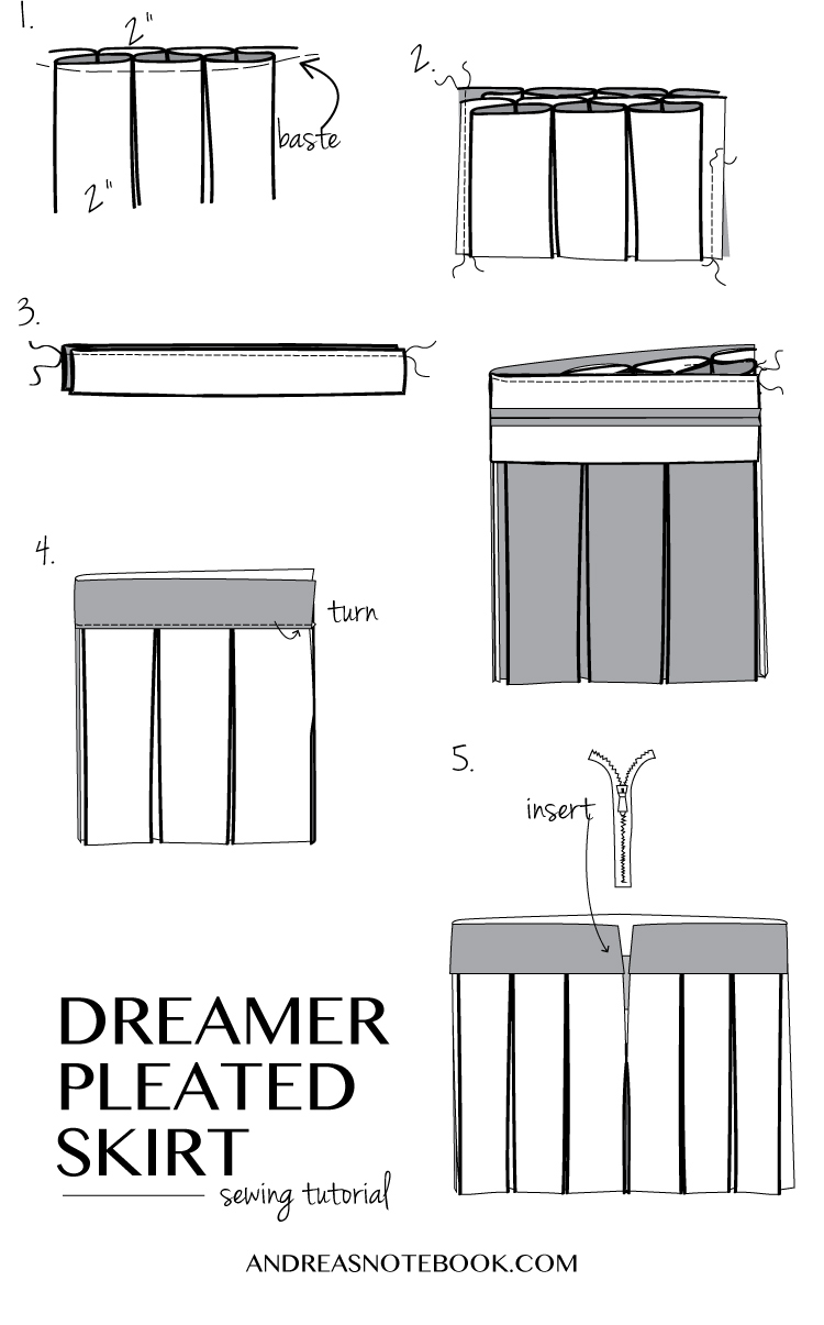 Dreamer Pleated Skirt tutorial