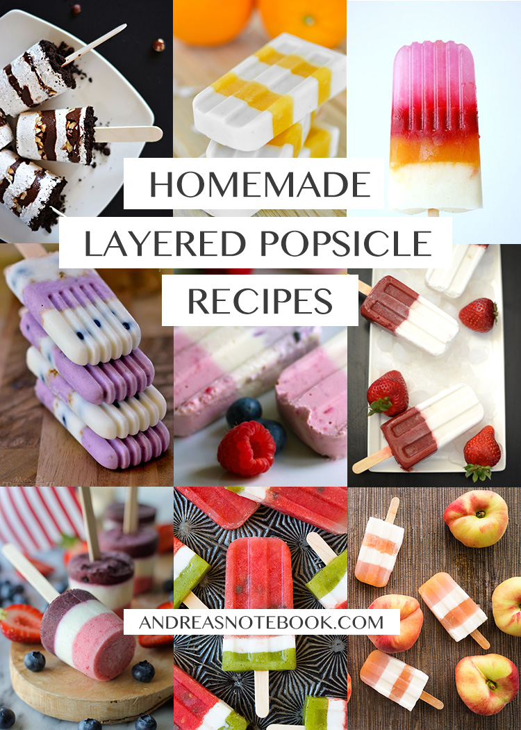 Make your own delicious homemade layered popsicle treats!