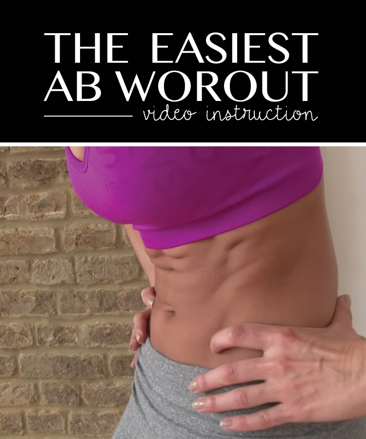 MUST TRY!! This is the easiest way to get toned abs!