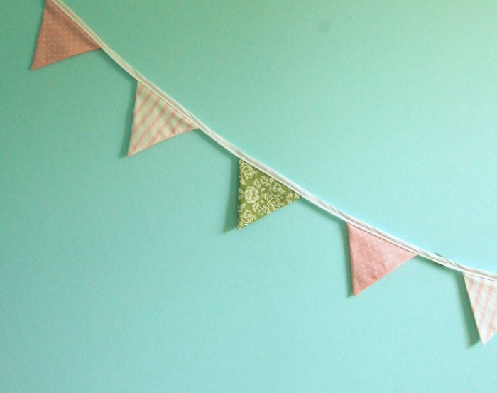 How to make a fabric bunting, FASTER