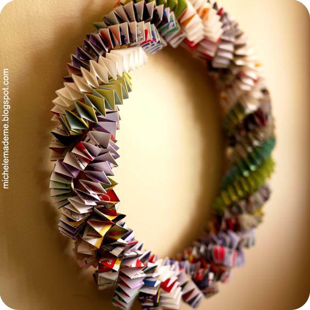 box chain paper wreath tutorial