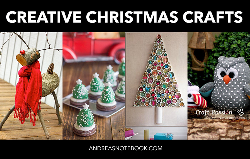 Lots of great DIY creative christmas crafts and ideas!