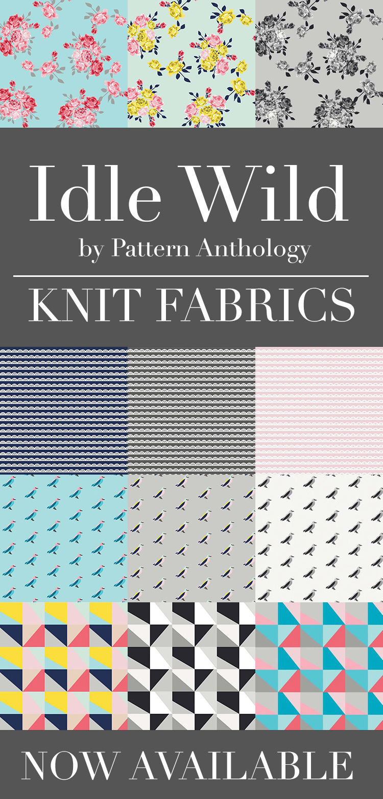 Idle Wild knit fabrics now available! Click here to see where!