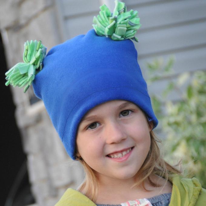 Pom Pom Fleece Hat Sewing Pattern