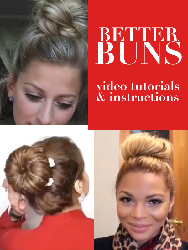 Better Hair Buns Tutorials