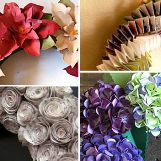 fantastic paper wreath tutorials