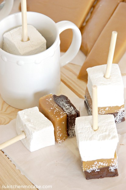Salted Caramel Hot Chocolate Sticks