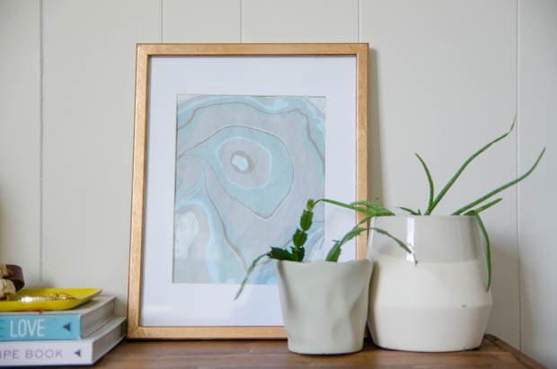 DIY Gift Idea: Marbled Print in a Gilded Frame