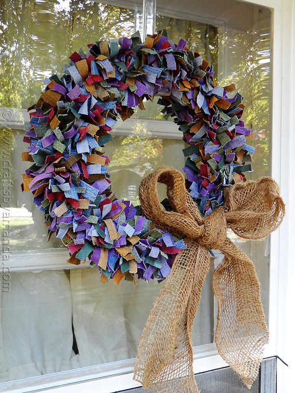 Beautiful Upcycled Denim Wreath