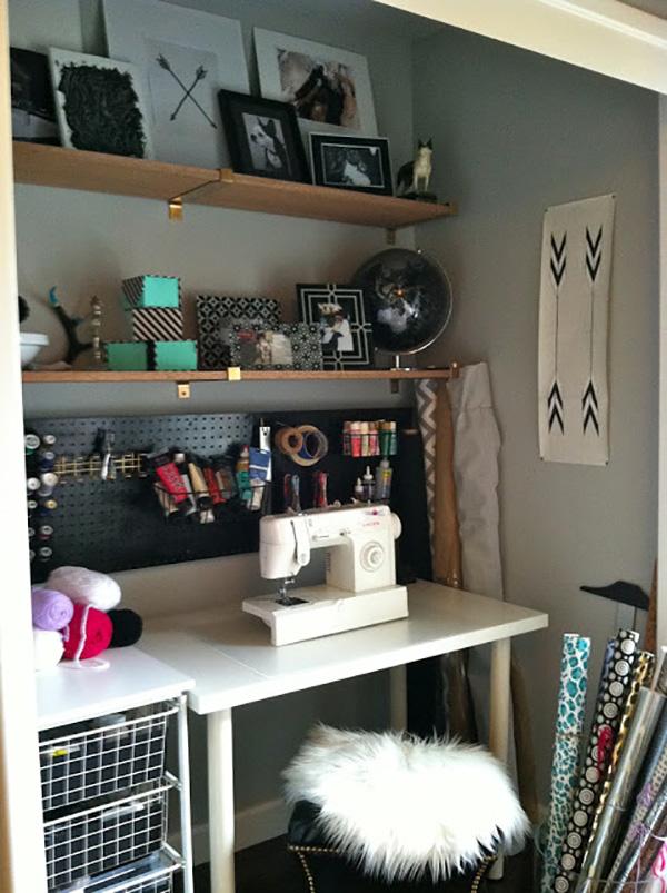 Inspiring Sewing Closets