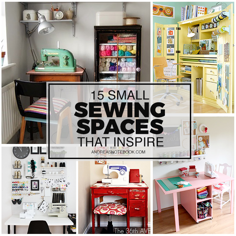 15 small sewing spaces that inspire creativity