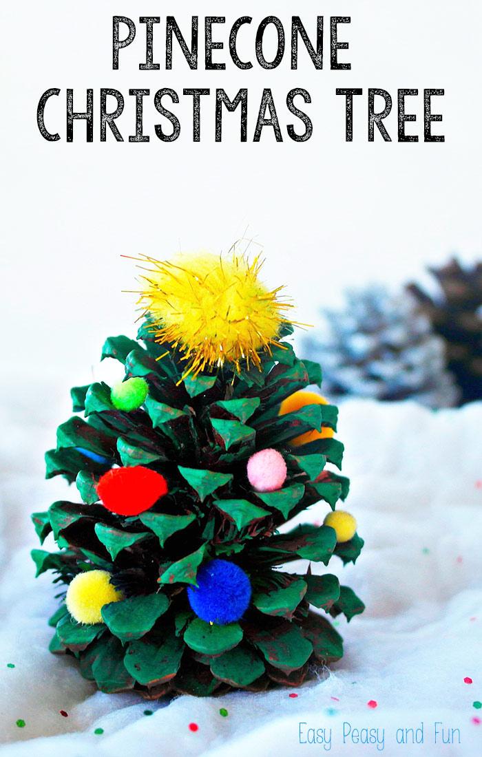 Make a pinecone Christmas Tree!