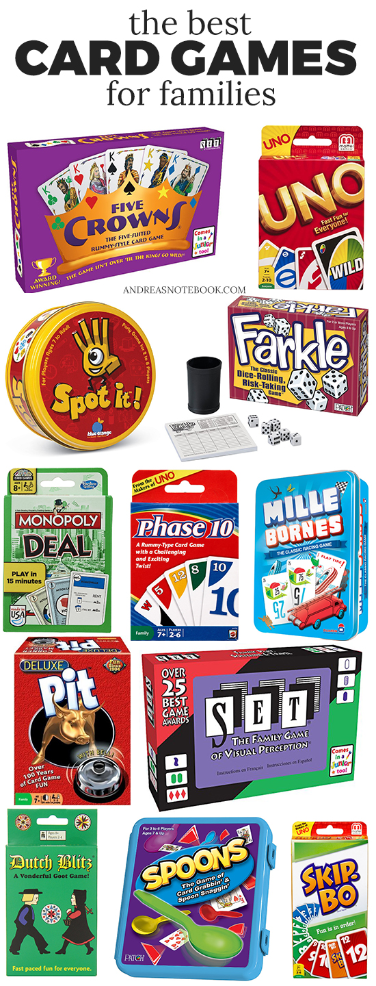 Best Card Games For Families - Printable List!