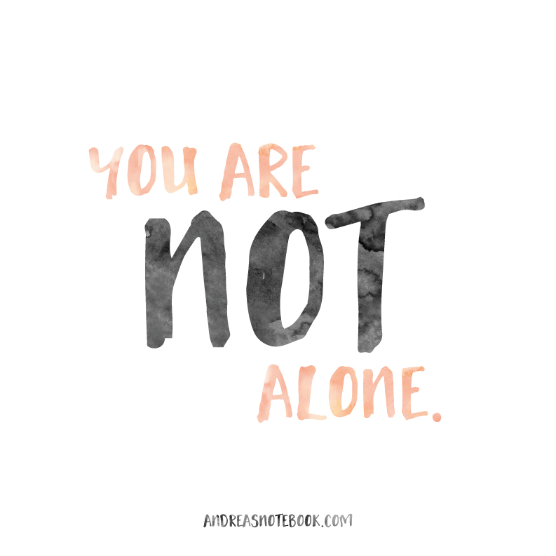 You are not alone - 10 ways to find joy - AndreasNotebook.com
