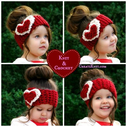 Crochet Heart Earwarmer Tutorial