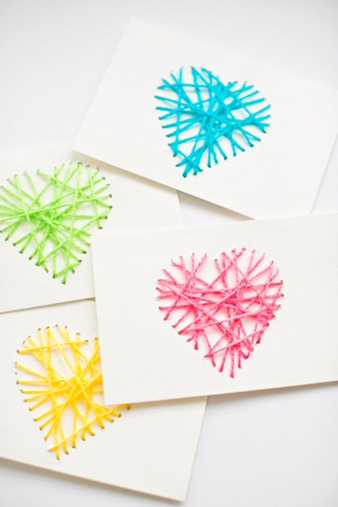 Hand Stitched Valentine's Day Card Tutorial