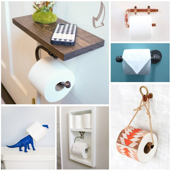 DIY toilet paper holder tutorials