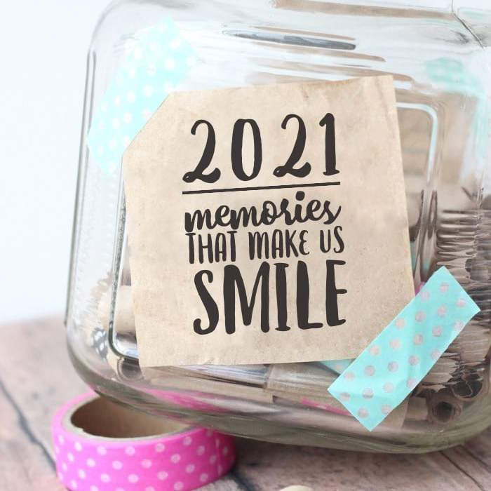 2021 memory jar washi tape pink blue