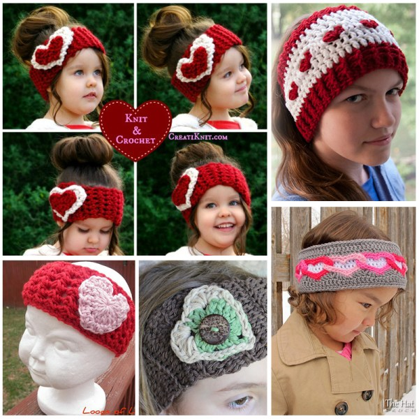 Crochet Heart Ear Warmer Tutorials