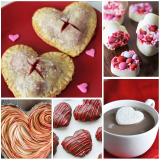heart shaped Valentine recipes