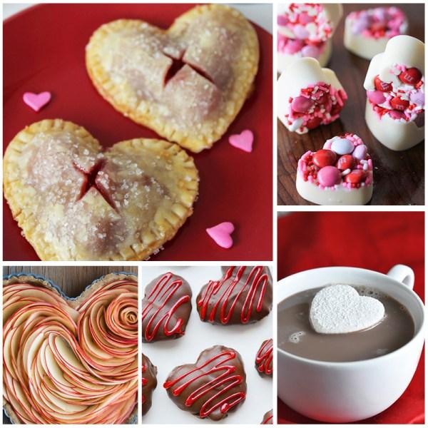 heart shaped Valentine recipes