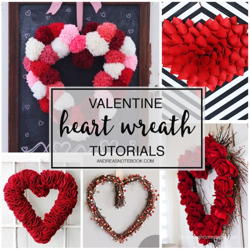 Valentine Heart Wreath Tutorials