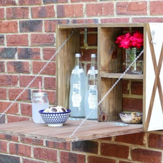 Make your own cute fold down serving station!