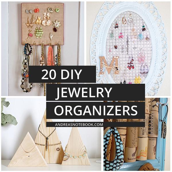 make your own jewelry organizer!