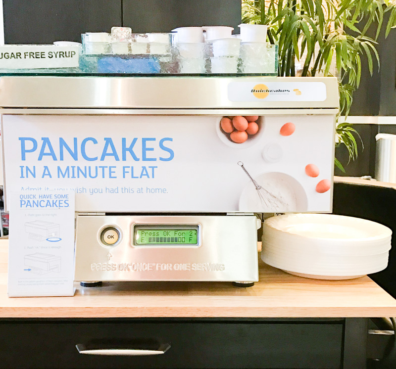 Check out the pancake machine!