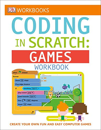 Coding in SCRATCH - games workbook - kids learn to code