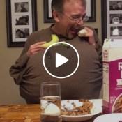 skit funny banana cereal milk