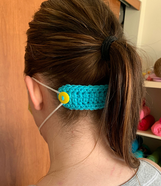 Crochet mask ear savers for doctors, nurses and front line workers who wear masks all day.