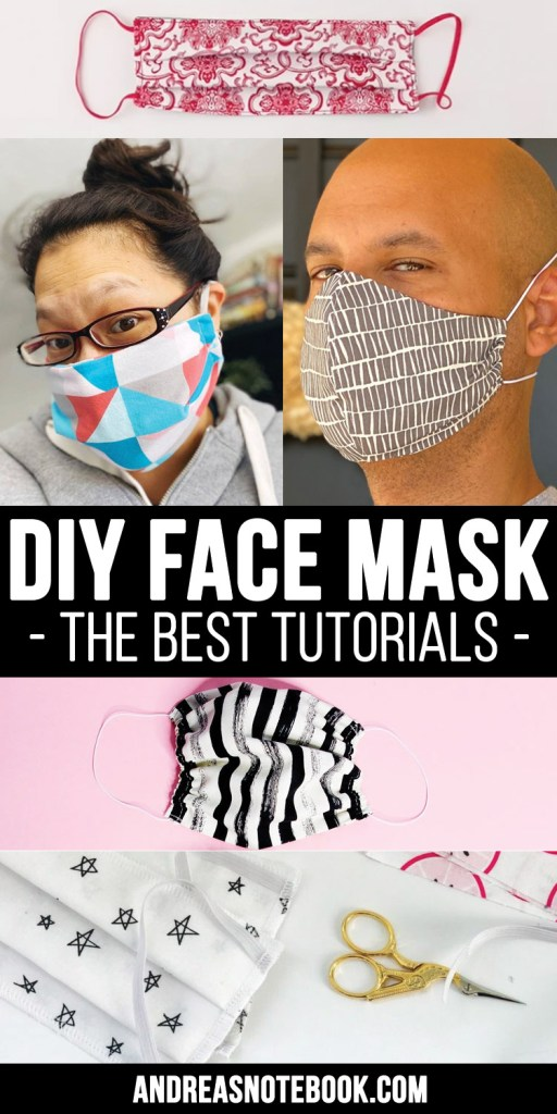 best diy face mask tutorials and patterns