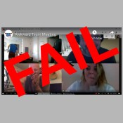 video conference call fail