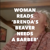 Woman Laughs Until She Cries Reading Children's Book About Brenda's Beaver