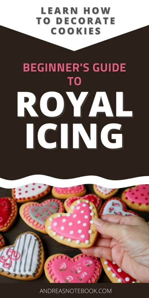 heart shaped pink and white cookies decorated with royal icing
