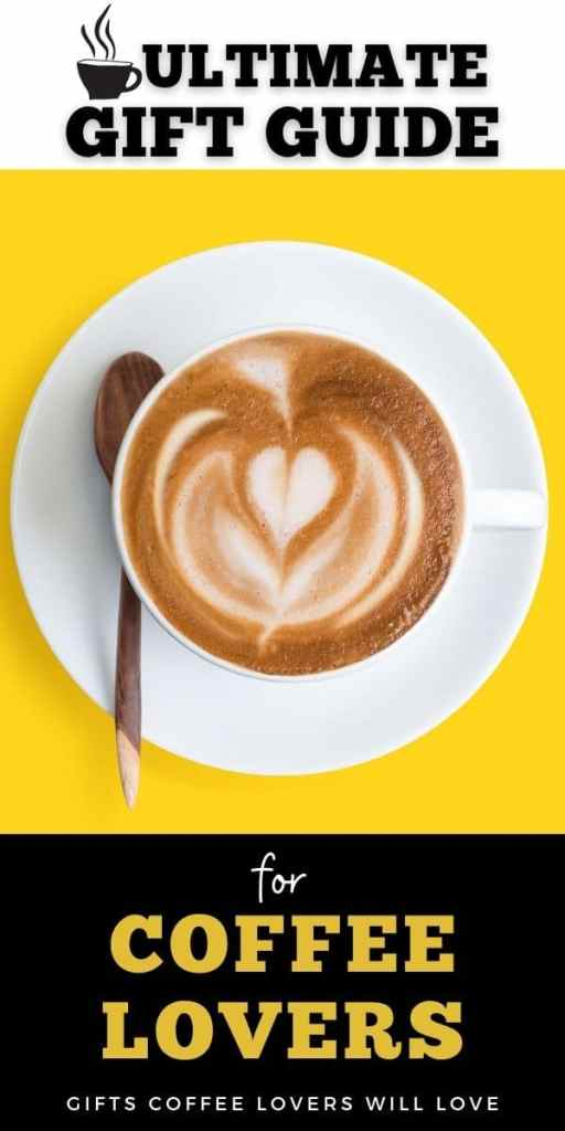 poster with yellow background and coffee cup: gifts for coffee lovers