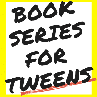 text reads book series for tween in bold black font