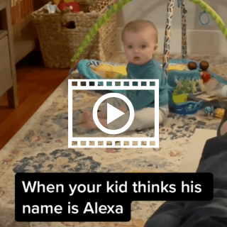 kid thinks his name is alexa