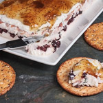 Creamy Cheese Torta with Prosciutto, Kalamata Olives, and Fig Jam - Andrea Meyers