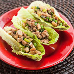 Chinese Chicken Lettuce Wraps (The Kids Cook Monday) - Andrea Meyers