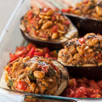 Andrea Meyers - Grilled Stuffed Eggplant