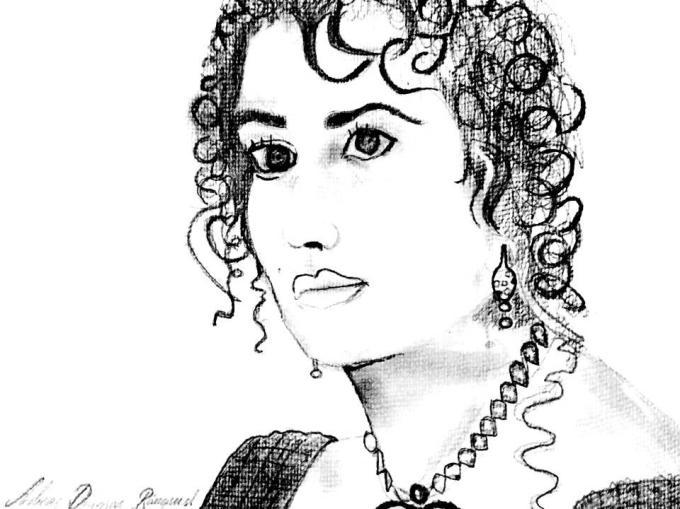 Rose DeWitt Bukater Första Klass Lyx Titanic Porträtt